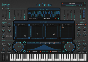 Re4orm synthesis engine's display and specifications.