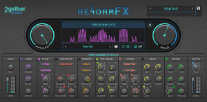 Re4ormFX's interface showing its features like remixing effects with shape & more.