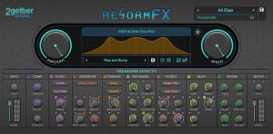 Screenshot of Reform FX showing the audio shape remixer's features.
