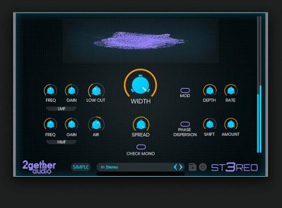 2getheraudio releases ST3REO Imaging Effect